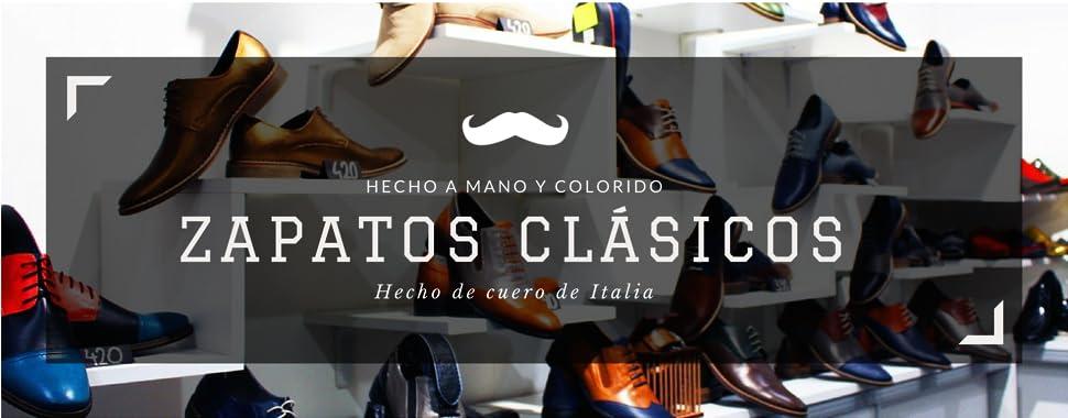 Modello Braga - Cuero Italiano Hecho A Mano Hombre Piel Color ...