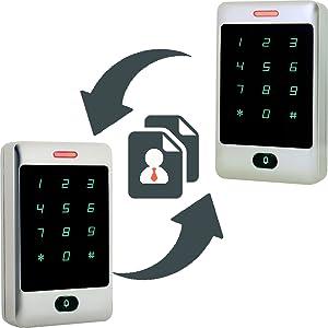 Tivdio Control de Acceso Teclado Acceso Teclado Táctil Independiente Proximidad para RFID Sistema de Control de Acceso 125KHz Retroiluminación Teclado ...