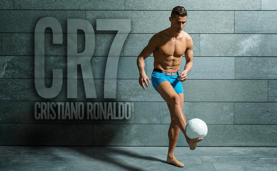 CR7 Cristiano Ronaldo - Fashion - Bóxers para Hombre a la Moda - Pack de 2 - Blanco/Azul - Tamaño S | 4 | 48 (CR7-JBS-8302-49-529-S)
