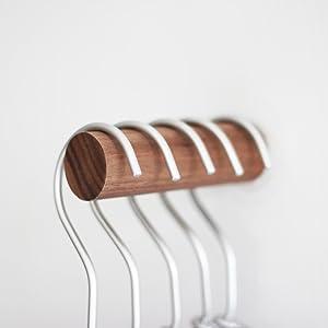 anaan One-Tenth Diseño Perchero Pared Madera Colgador Abrigos Gancho Pared Pasillo Moderno Decorativo nordico (Haya, M Φ3*8cm Ligeramente Oblicuo)
