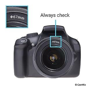 Capucha de Lente para cámara – 67mm – Caucho – Juego de 2 ...