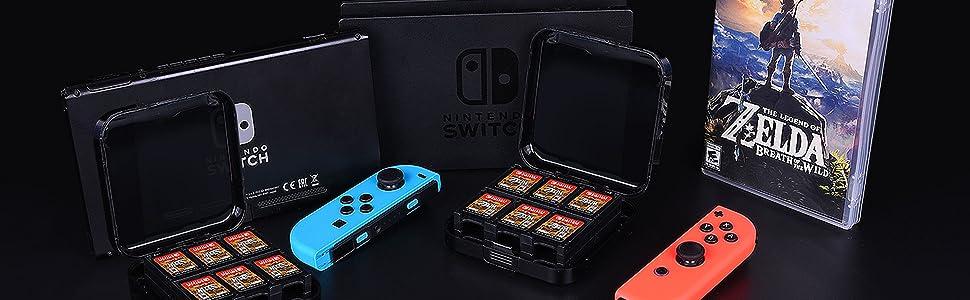 2x CamKix Funda de juego compatible con Nintendo Switch: Amazon.es ...