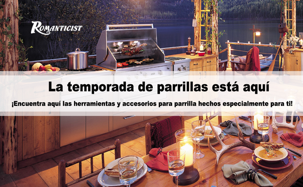 Romanticist 28PC Barbacoa de Exterior Kit de Utensilios ...
