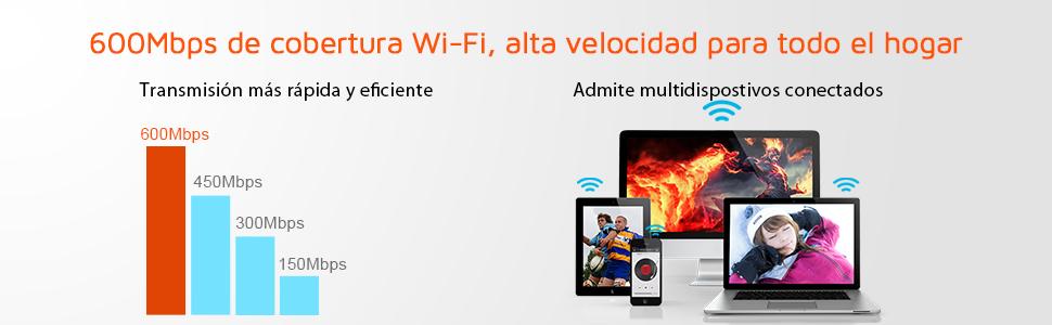 Tenda F9 Router inalámbrico WiFi (600Mbps,4 antenas 6dBi, repetidor universal, punto de acceso, fácil instalación, 3 Puertos LAN 10/100 Mbps, 1 Puerto ...