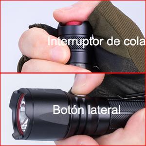 Instrucción de operación. Presione suavemente el interruptor de cola para encender o Presiónelo nuevamente para apagar la luz