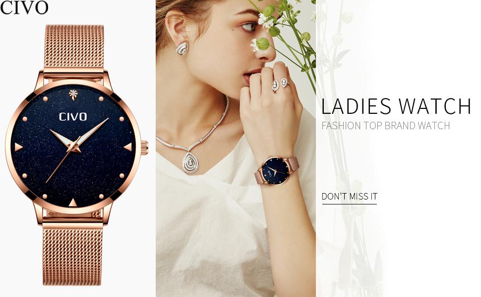 Acero Inoxidable Reloj Mujer