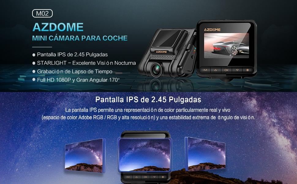 Cámara de Coche 1080P FULL HD con 2.45\