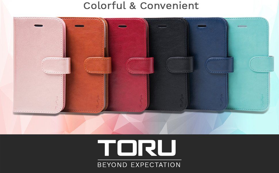 Funda iPhone SE, TORU [PRESTIZIO] Carcasa iPhone SE, Funda cartera para iPhone 5 tarjetero [Almacenamiento de tarjetas y carnés][Soporte ...