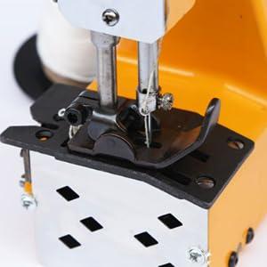 HUKOER Máquina de Coser Portátil Máquina Selladora Eléctrica Costura de tejido de sellado para bolsas de lona, sacos, bolsas tejidas y bolsas de papel,Amarillo: Amazon.es: Hogar