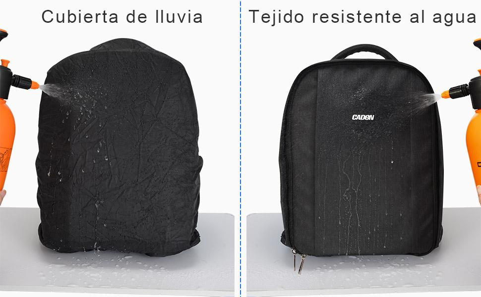 CADeN Mochila Camara Reflex - con Cubierta para Lluvia y Puerto ...