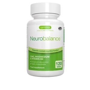 Neurobalance zmb6, picolinato de zinc, citrato de magnesio y vitamina B6, suplemento para adultos y niños, 120 comprimidos