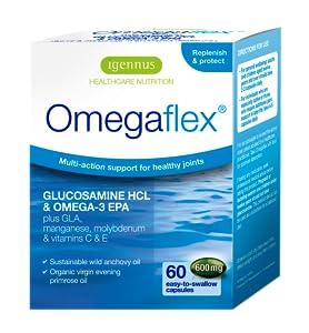 Omegaflex | Glucosamina, Aceite de Pescado Salvaje, Aceite de Onagra y Vitaminas C & E
