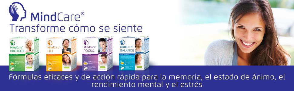 Los suplementos MindCare ofrecen una nutrición cerebral integral que utiliza ingredientes científicamente probados para apoyar el sistema nervioso central, ...