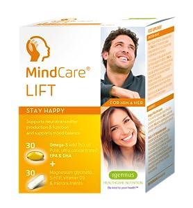 MindCare LIFT | aceite de pescado salvaje omega-3, glicinato de magnesio, 5-HTP y multivitaminas