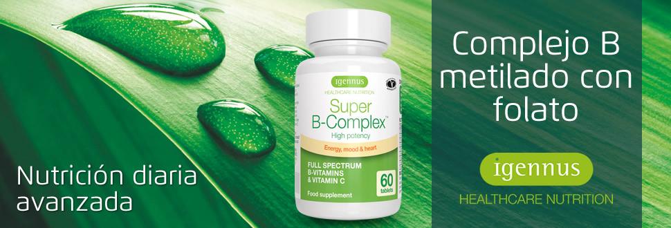 Super B-Complex - Complejo vitamínico B de alta concentración, con ...