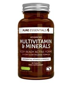 Pure Essentials Advanced Multivitamin & Minerals es un suplemento completo de nutrientes que contiene 22 vitaminas y minerales preparados para ser ...