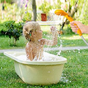 ducha acampar al aire libre 12v
