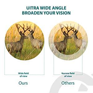 Amplio campo de visión