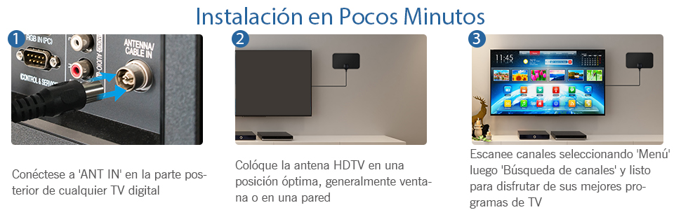 antena tv portatil amplificador