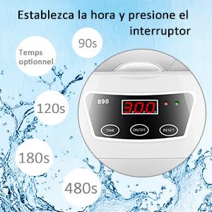 Cadrim Limpiador Ultrasónico de 600ml con Temporizador para ...