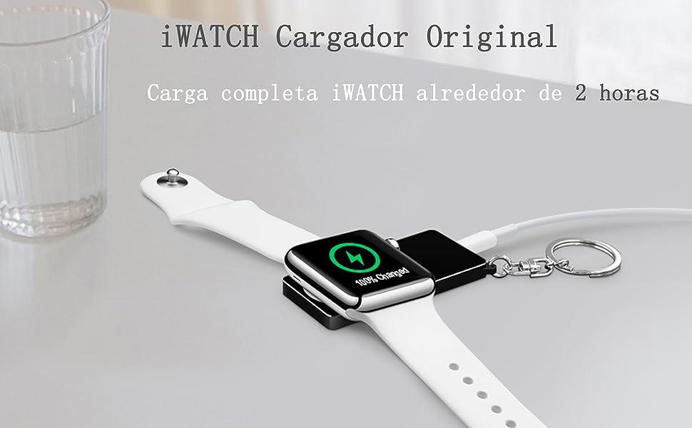 LIUSI Cargador Magnética Inalámbrico Original para Apple Watch Series 1/2/3/4/Sport Nike+/Hermes/Edition, Cargadores Llavero Portátil iWATCH para ...