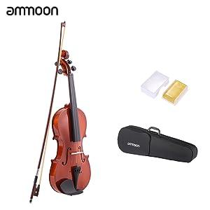 ammoon Natural 1/2 Violín Acústico Spruce Violín con Cuerdas de Acero con Caso Instrumentos de Cuerda del Arco Arbor para Amantes de la Música Principiantes: Amazon.es: Instrumentos musicales