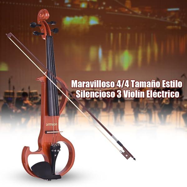 Talla de violín eléctrico de estilo 4 de 4/4 tallado a mano con superficie pintada lisa.