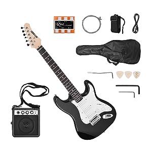 1 * Guitarra eléctrica 1 * Altavoz 1 * Cable de 6.35 mm 1 * Manivela pequeña 1 * llave pequeña 1 * Conjunto de cadena 1 * Bolsa de guitarra 1 * correa