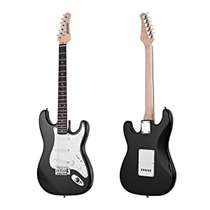 Exquisita guitarra eléctrica de Paulownia Body, mástil de arce, 21 trastes, longitud de escala de 648 mm.