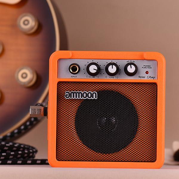Amplificador de potencia de 5W con batería para guitarra y ukelele.