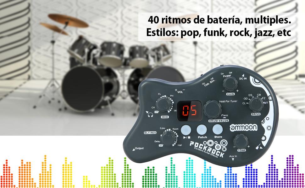 ammoon Múltiples Efecto Pedal PockRock Guitarra Portátil ...
