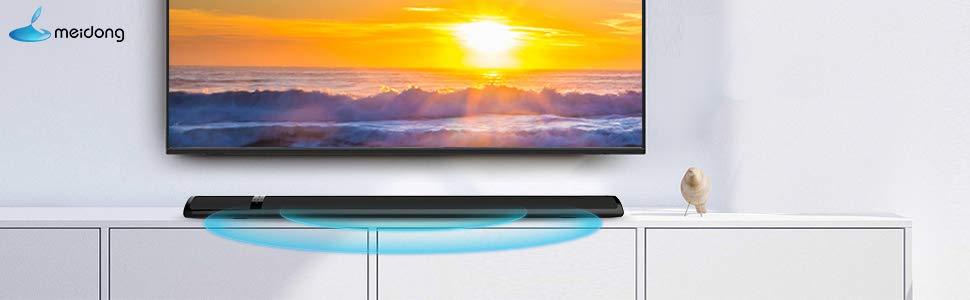 Meidong Altavoz de Barra de Sonido TV Bluetooth con HD Sonido Envolvente, Home Cinema Barra de Sonido para TV 2.0 Canales Soundbar Bluetooth Inalámbrico con Óptico/RCA/AUX/Bluetooth/Remote Control: Amazon.es: Electrónica