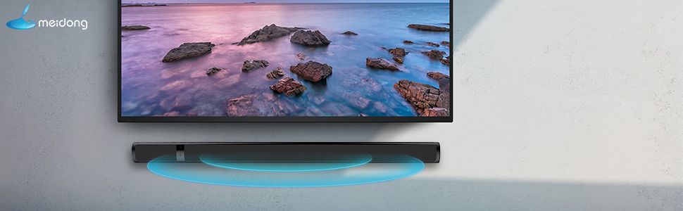 Meidong Altavoz de barra de sonido Bluetooth para TV, 36 pulgadas 2.0 Canales Altavoz de cine en casa Barras de sonido, Altavoz Estéreo con múltiples puertos de conexión(Óptico/RCA/AUX/Bluetooth) : Amazon.es: Electrónica