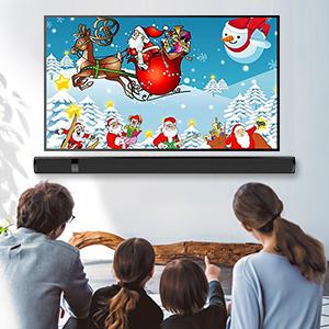 Meidong Barra de sonido de TV con Bluetooth Inalámbrico y con cable de 2.0 canales Altavoz de cine en casa Barras de sonido envolvente para TV / 43 pulgadas / Óptico /