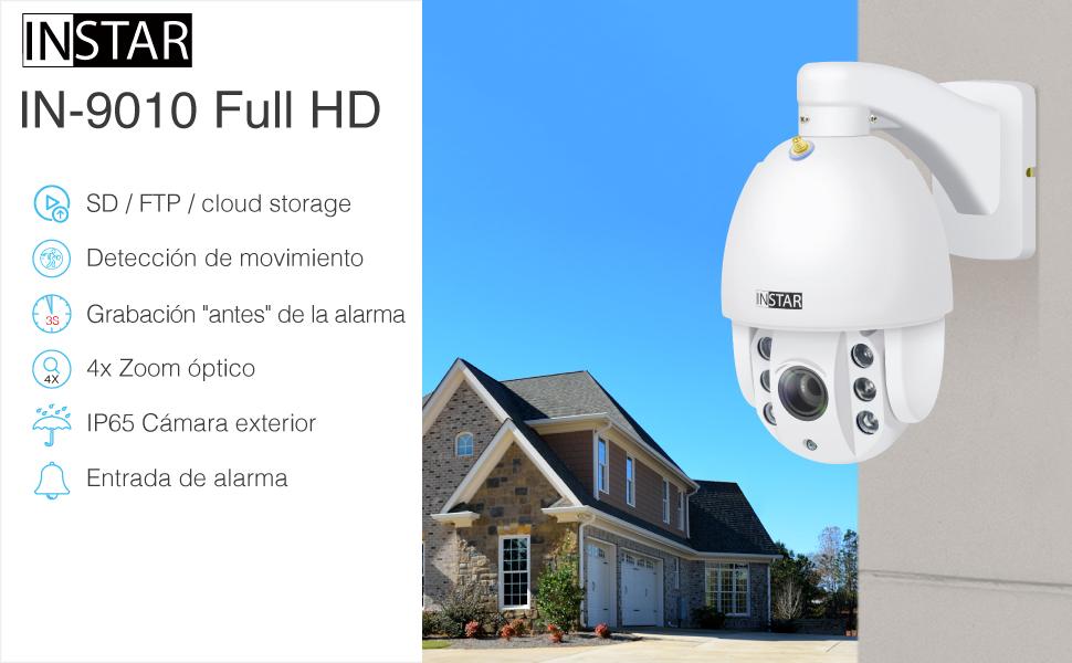 INSTAR IN-9010 Full HD bianco / Cámara IP / 4X Zoom / ONVIF ...