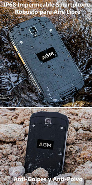 AGM A8 Smartphone Android 7.0 IP68 Impermeable Anti-Agua, Antí ...