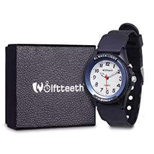 e5f701d29bac Wolfteeth Analog Quartz Boys Reloj De Pulsera con Segunda Mano ...