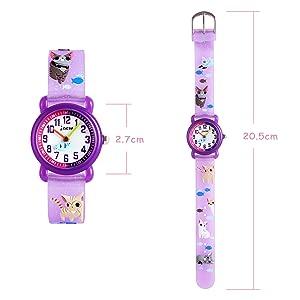 Longitud de la correa de reloj: 200 mm / 7.9 pulgadas. Ancho de la banda de reloj: 14 mm / 0.55 pulgadas