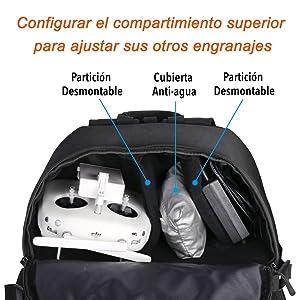 Lykus Mochila de Viaje Resistente al Agua, Para a los Modelos DJI ...