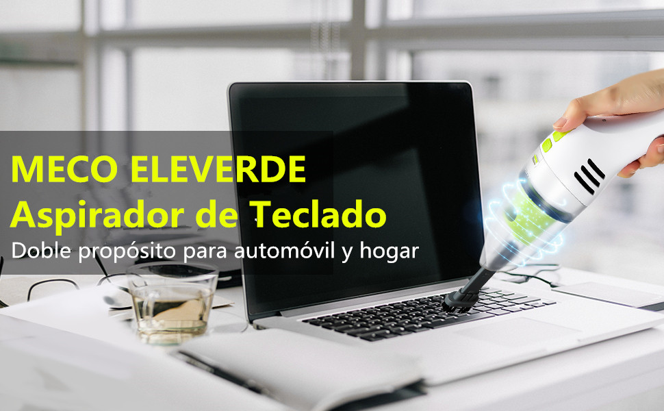 MECO ELEVERDE Aspirador de Teclado Mini Aspiradora Inalámbrica de ...