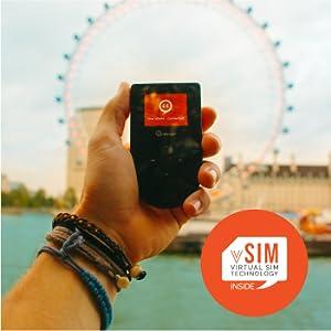 Conexión wifi global en 120 países con tecnología SIM virtual