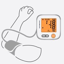 Asegúrese de que su cuerpo esté relajado antes de medir y que el manguito de inducción esté alineado con el corazón.