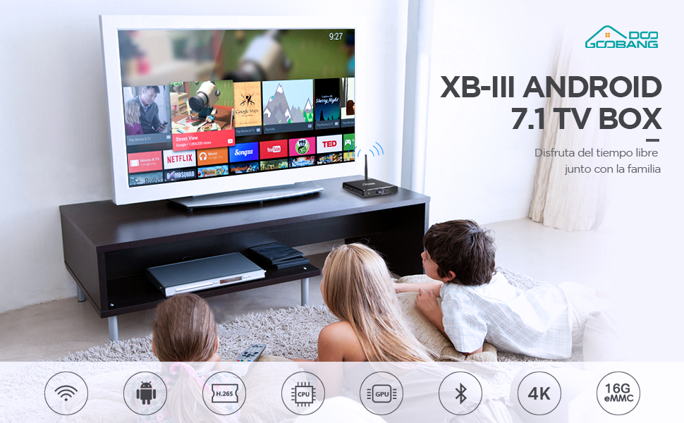 Android TV Box,【4GB RAM + 64GB ROM】Smart TV Box Android 9.0 ...