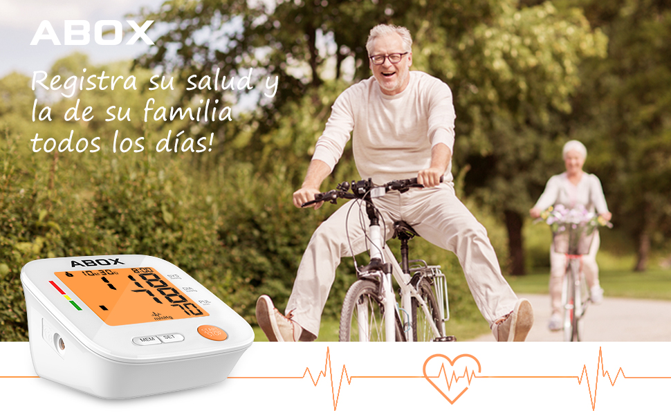 ABOX tensiómetro de brazo con la verificación clínica utiliza la tecnología actualizada para obtener datos más precisos cuando baja la presión.