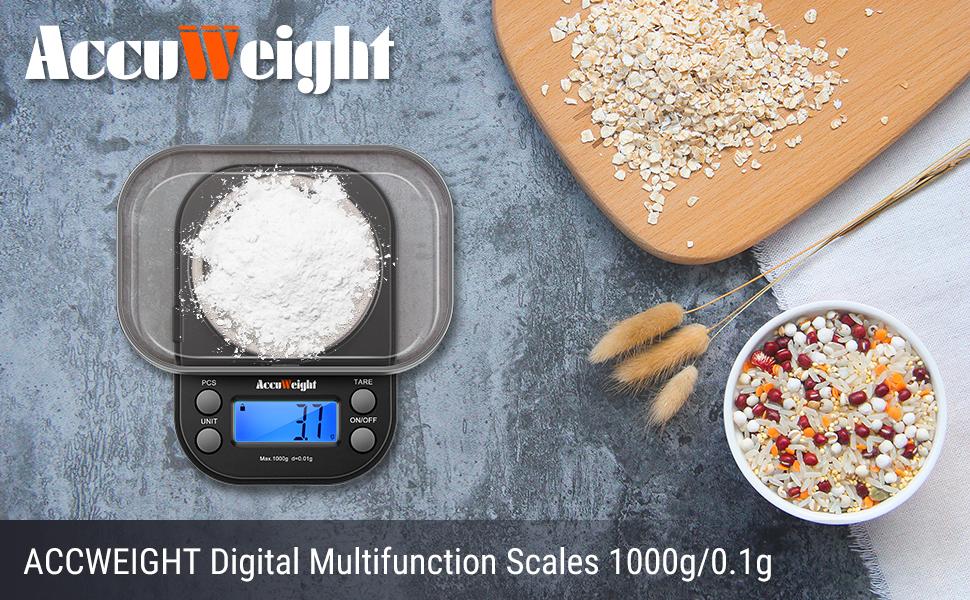 ACCUWEIGHT Báscula digital de precisión, las mini básculas profesionales para sus ingredientes de cocina Pesaje de laboratorio