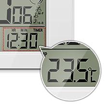 Indicador de temperatura y temporizador de cuenta regresiva