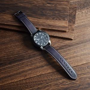 WOCCI 18mm 20mm 22mm 24mm Correa Reloj de Cuero con Hebilla de Acero Inoxidable, Replacement Banda