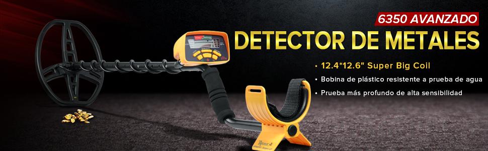 HOOMYA Detector de metales subterráneo profesional con Todo el ...