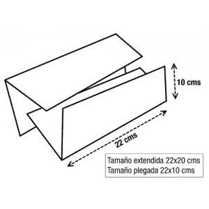 Caja de 20 paquetes de toallitas Z tissue doble capa o toallas Zig Zag secamanos en 100% Pasta de celulosa de 18gr/capa. Tacto suave tissue.