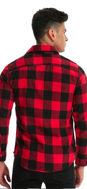 MODCHOK Camisa a cuadros cuadros cuadros cuadros camisa camisa manga larga leñador Tops: Amazon.es: Ropa y accesorios